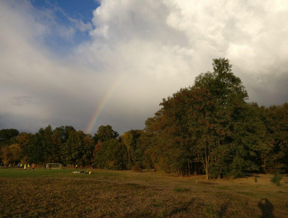 Regenbogen im Volkspark Potsdam